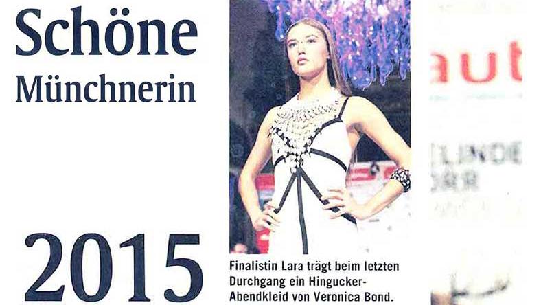 Schöne Münchnerin. 2015. Abendkleider von Veronica Bond.
