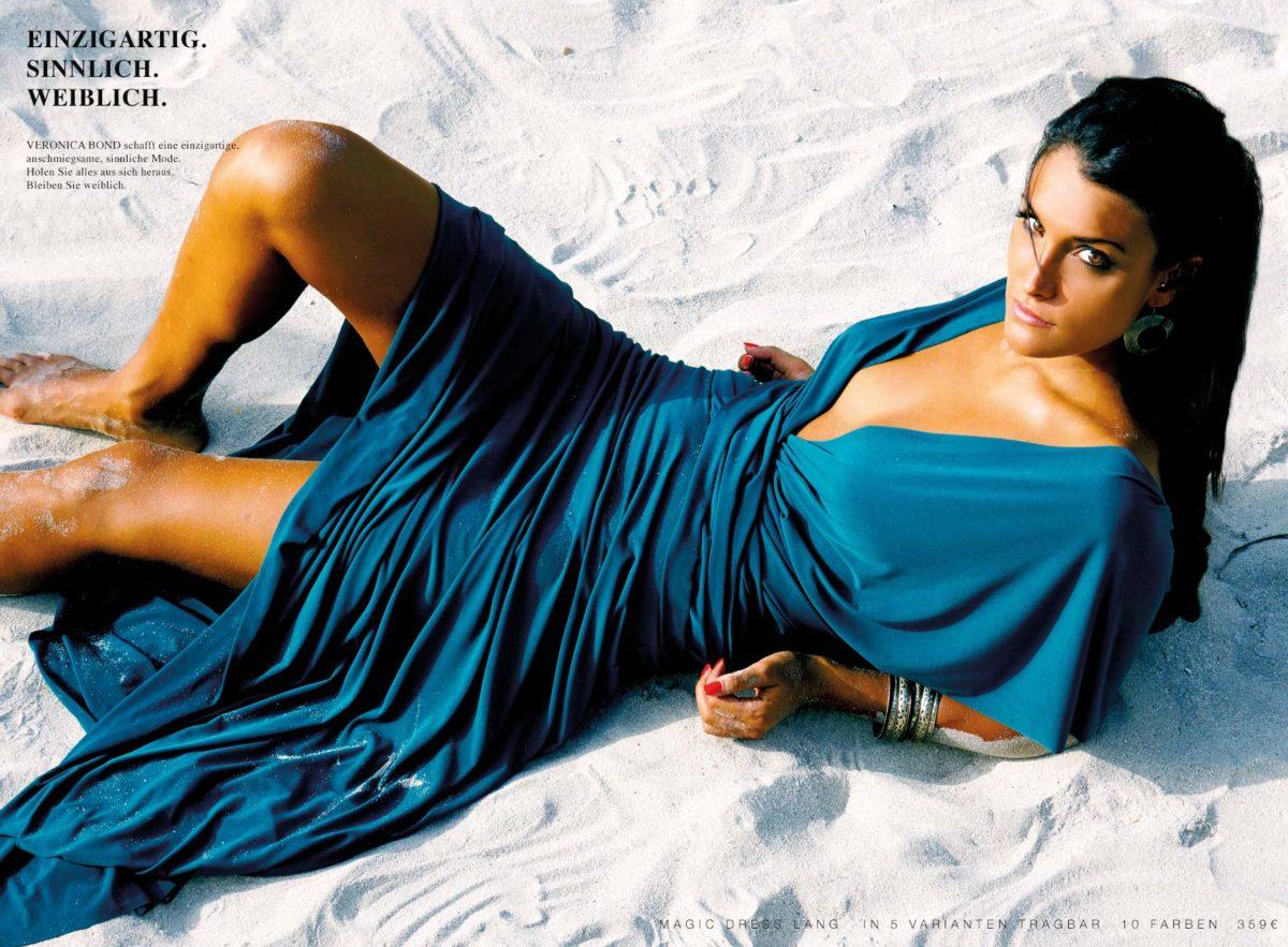 Strandkleid Abendkleid türkises Kleid