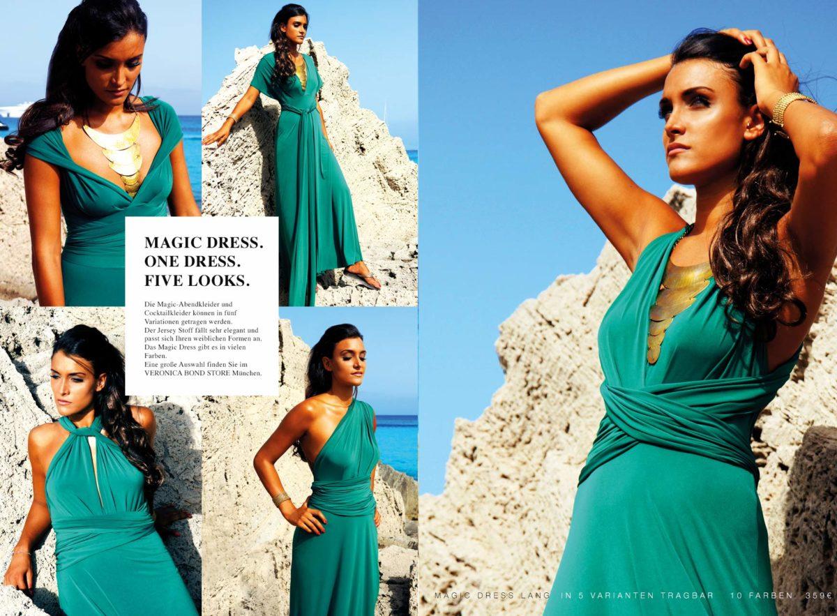 Strandkleid Abendkleid Wickelkleid grün